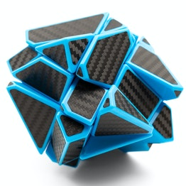 FangCun Ghost Cube Shape Mod, blau, mit Stickern in Carbon-Optik