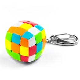 QiYi Mini Keychain Pillow Cube 3x3 Speedcube, stickerless