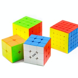QiYi MS Magnetic Cube Set 2x2, 3x3, 4x4, 5x5 magnetic speed cubes, stickerless, set of 4 different magic cubes